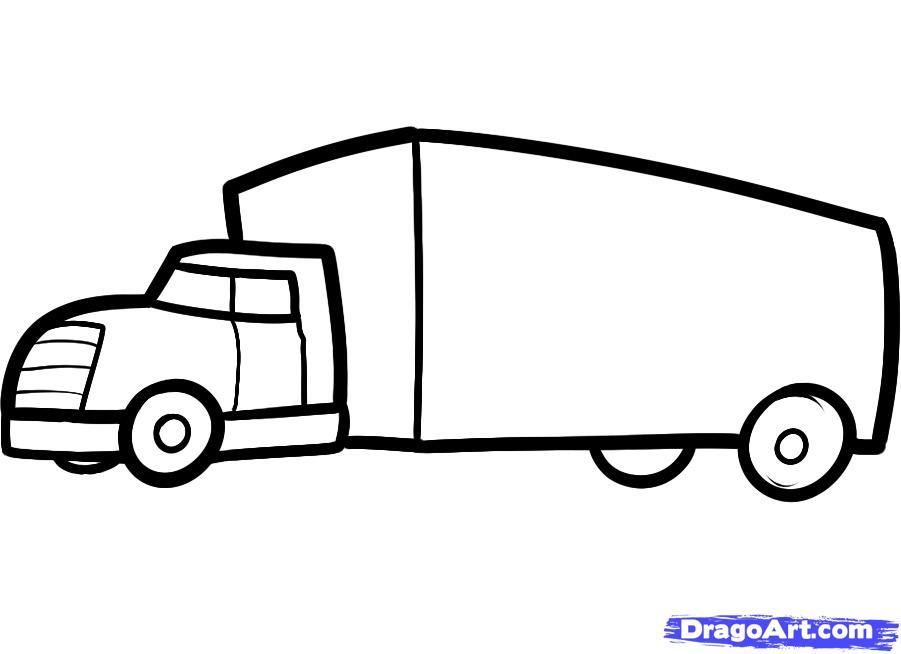 Как просто нарисовать грузовик ребенку