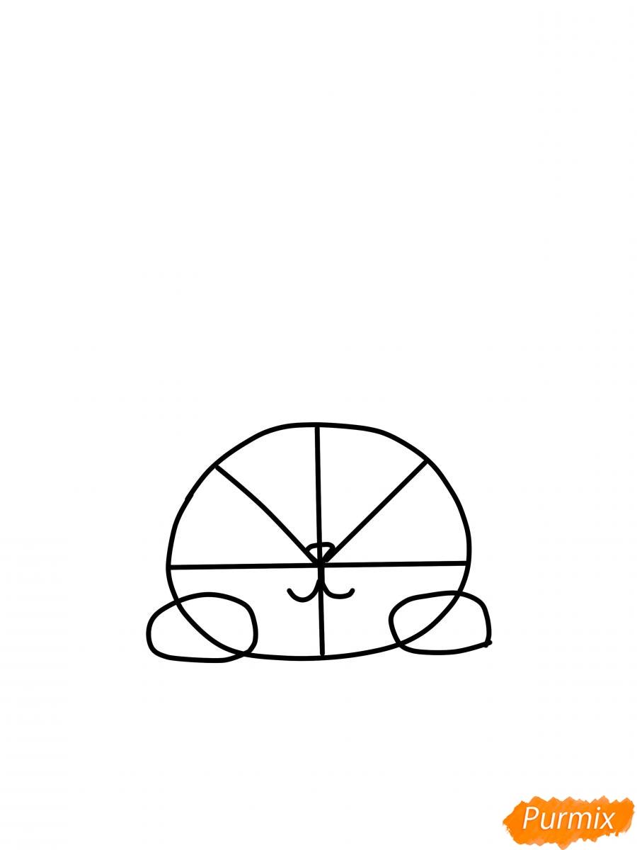 Рисуем кошку для детей - шаг 2