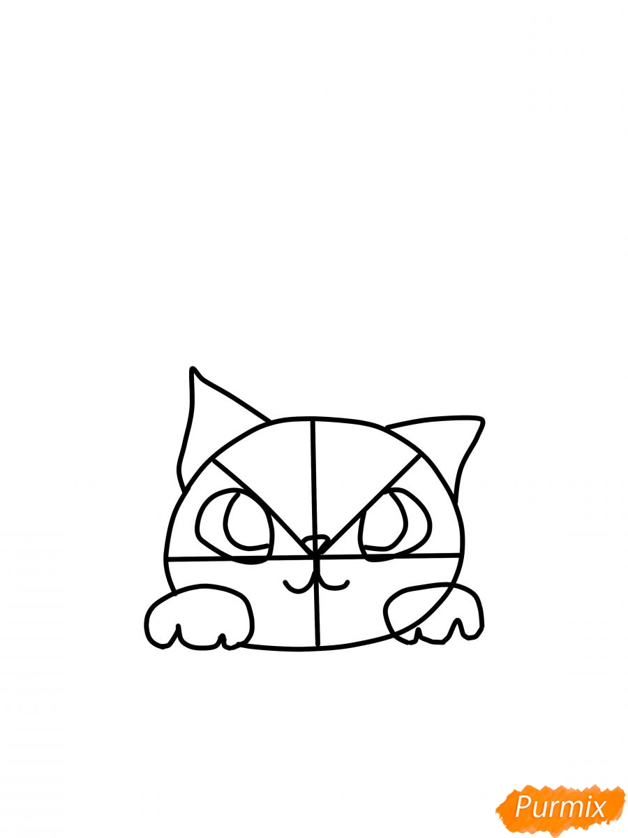 Рисуем кошку для детей - шаг 3