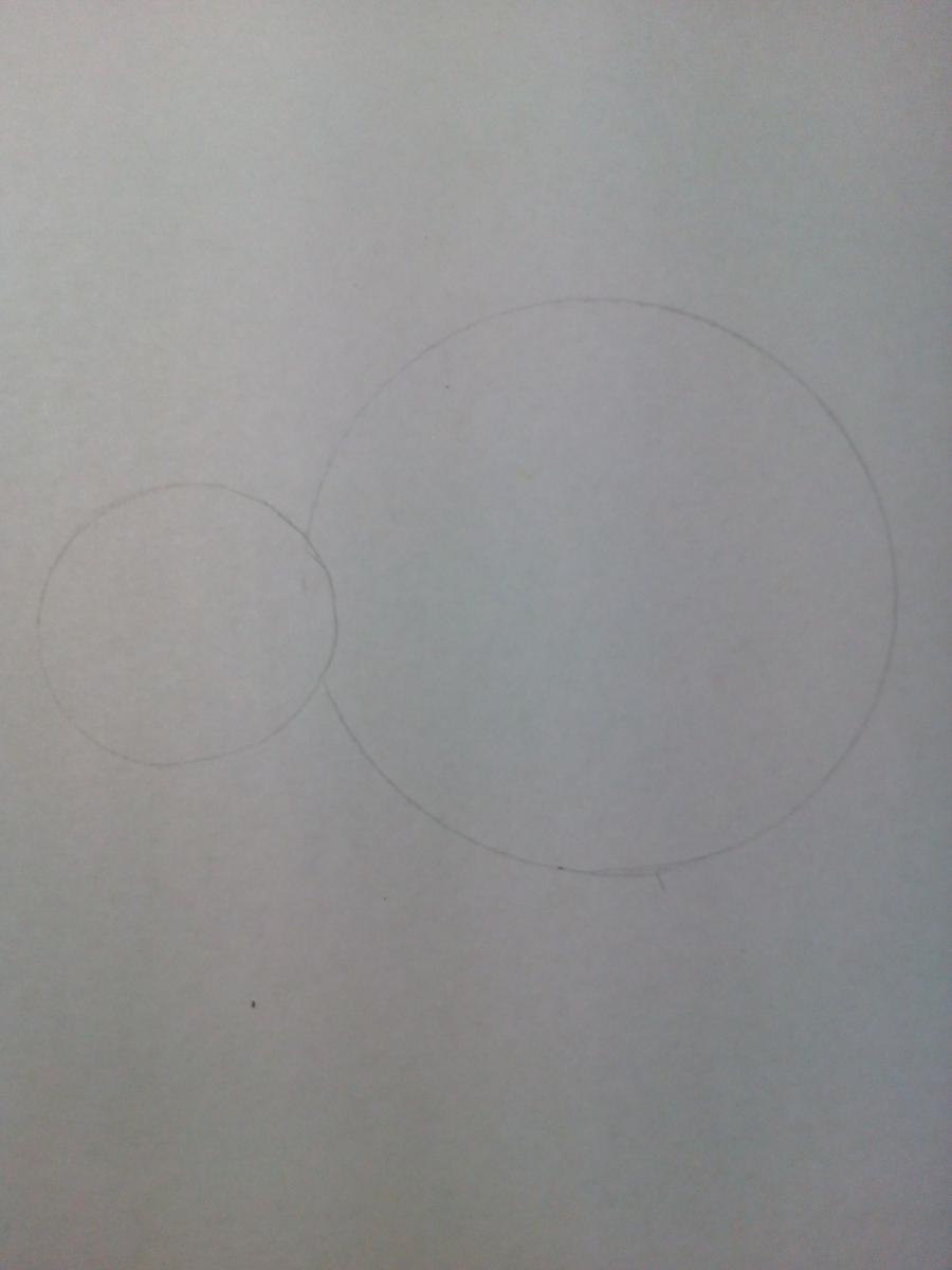 Рисуем забавную улитку детям - шаг 1