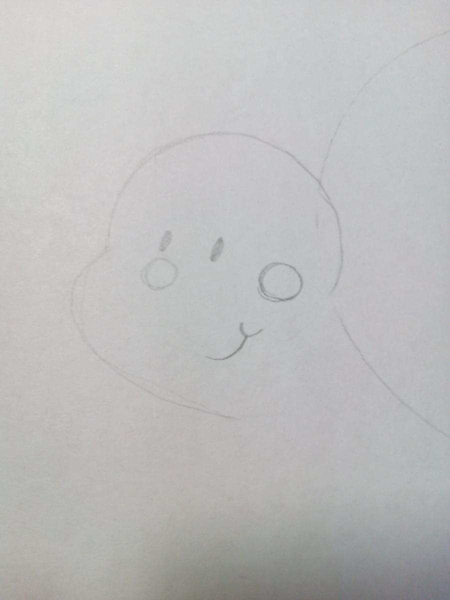 Рисуем забавную улитку детям - шаг 2