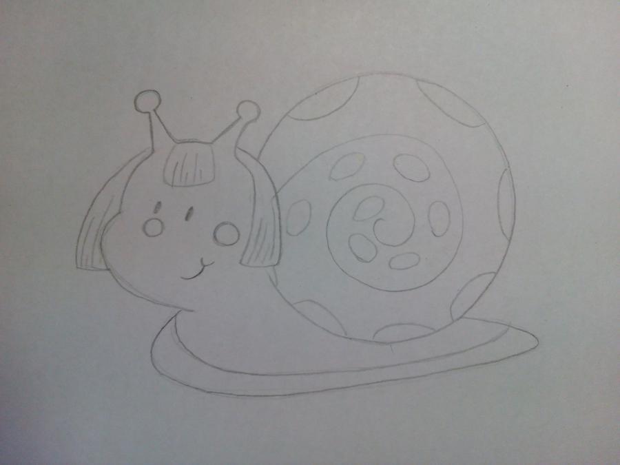 Рисуем забавную улитку детям - шаг 5