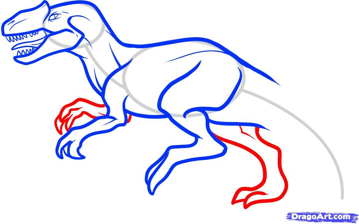 Рисуем Аллозавра