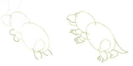 Как нарисовать динозавра Каннемейерия карандашом поэтапно