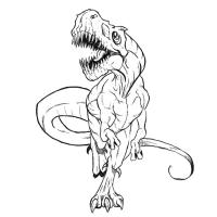 Динозавра карандашом