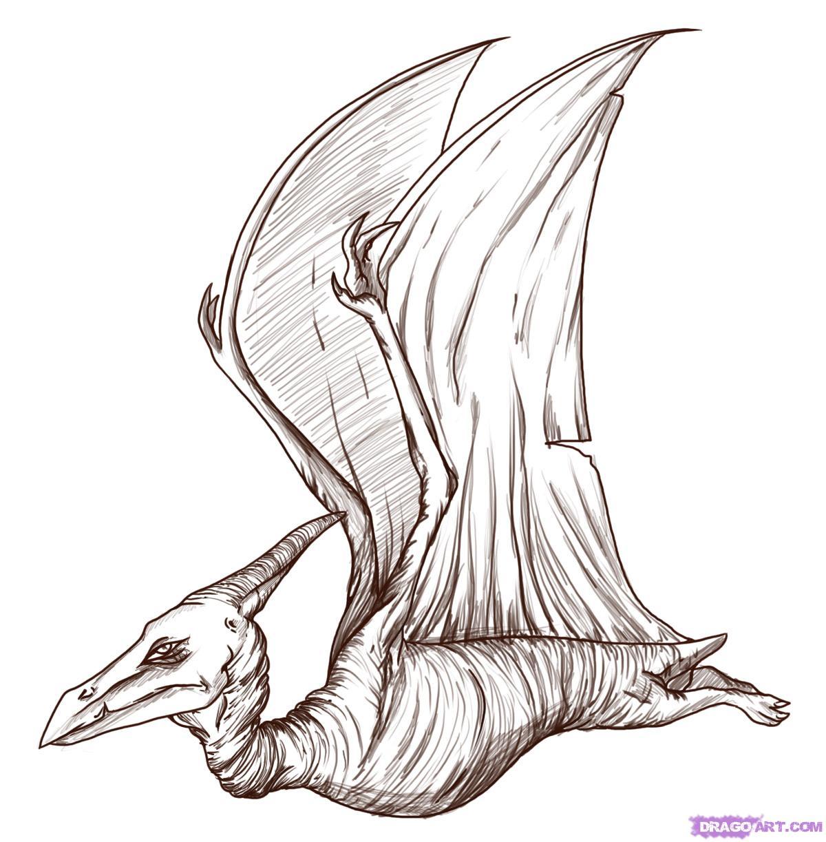 динозавры картинки рисовать