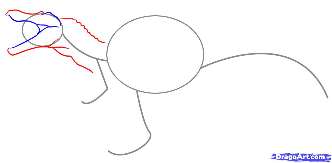 Как нарисовать спинозавра поэтапно