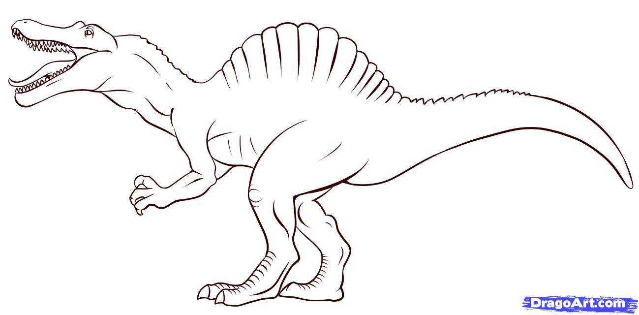 Рисовать рисунок про динозавра