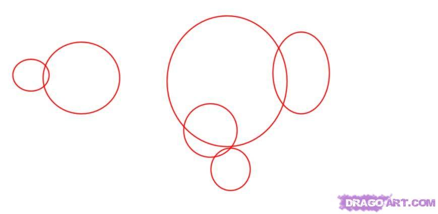 Рисуем Трицератопса  для начинающих - шаг 1