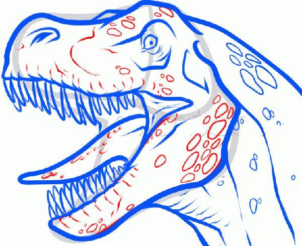 Рисуем голову Т-Рекса