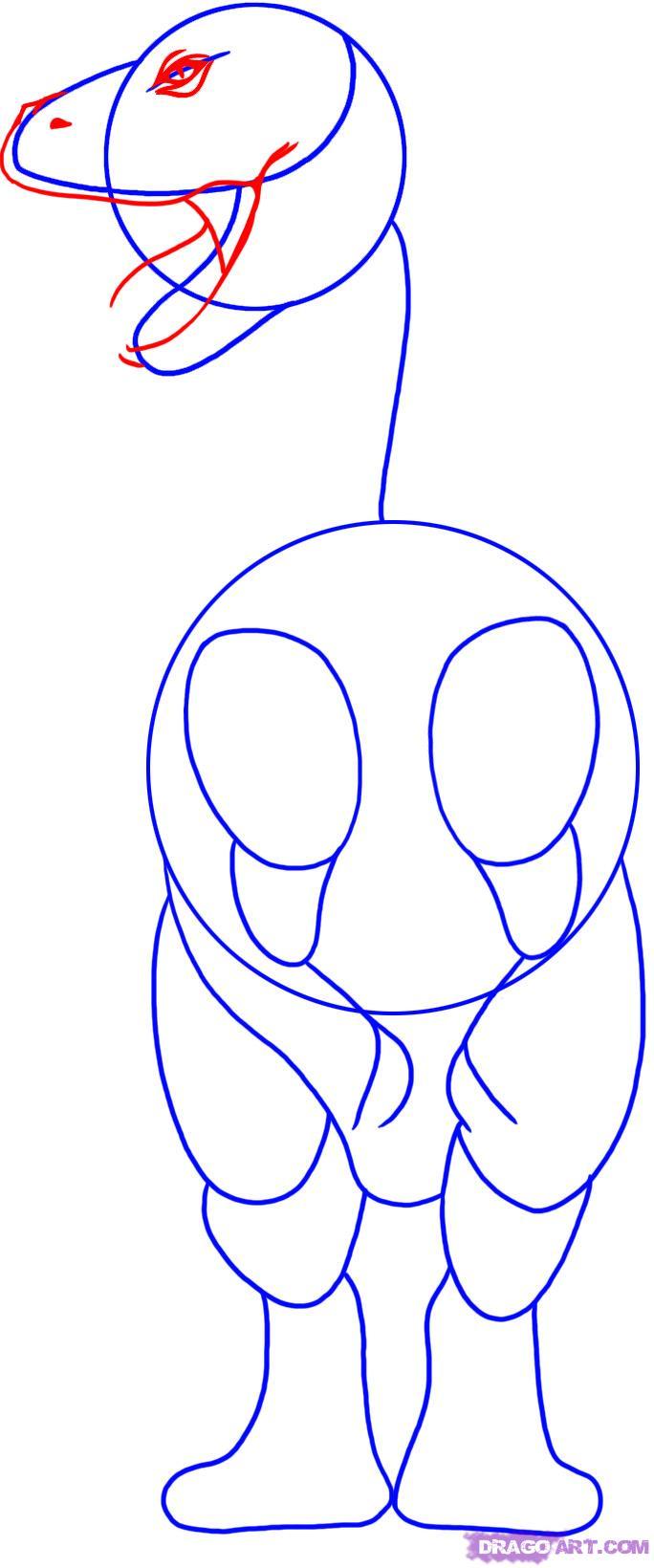Как нарисовать тираннозавра поэтапно