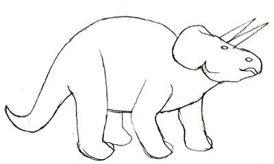 Рисуем Трицератопса - шаг 4