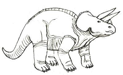 Рисуем Трицератопса - шаг 5