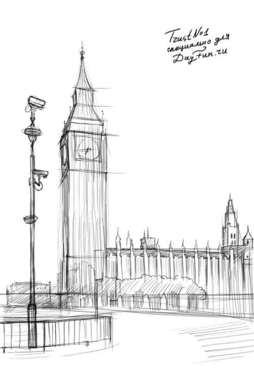 Картинки нарисованные лондона