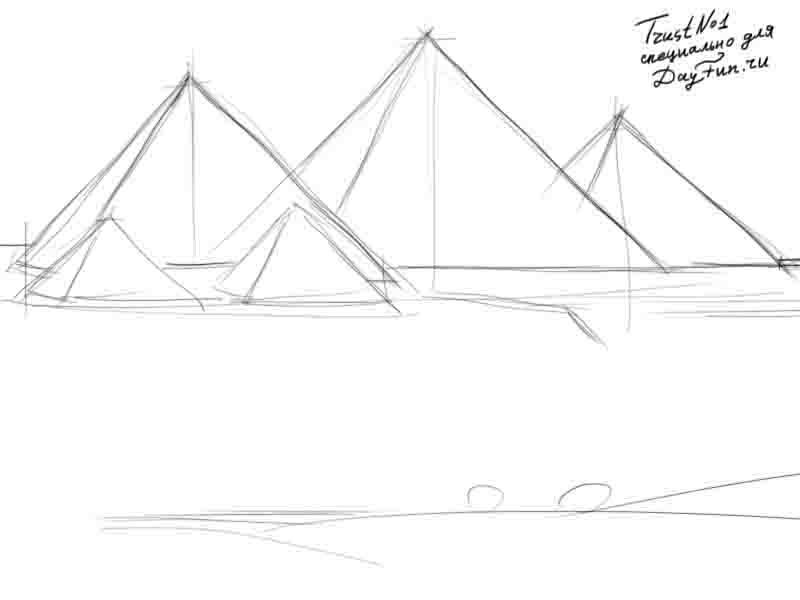 Рисуем Пирамиды Хеопса