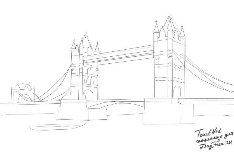 Тауэрский мост рисунок