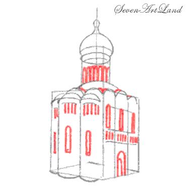 Храм нарисовать ребенку