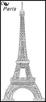 Рисуем Эйфелеву башню