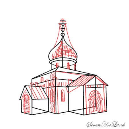 Рисуем Георгиевский собор