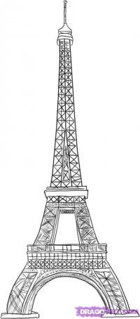 Фото Эйфелеву башню карандашом