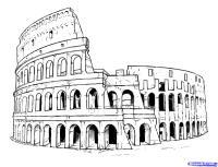 Рисунок Колизей на бумаге