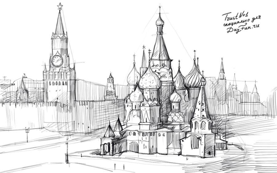 Кремль картинки для детей нарисованные
