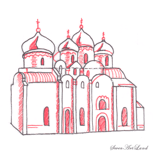 Рисуем Софийский собор