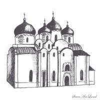 Как нарисовать Софийский собор карандашом поэтапно
