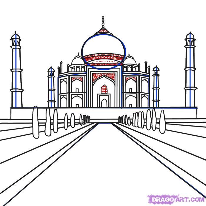 Рисуем Тадж-Махал на бумаге