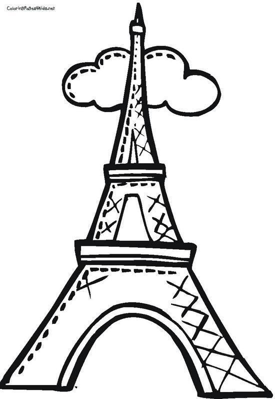 Рисунки Эйфелевой башни для срисовки - шаг 2