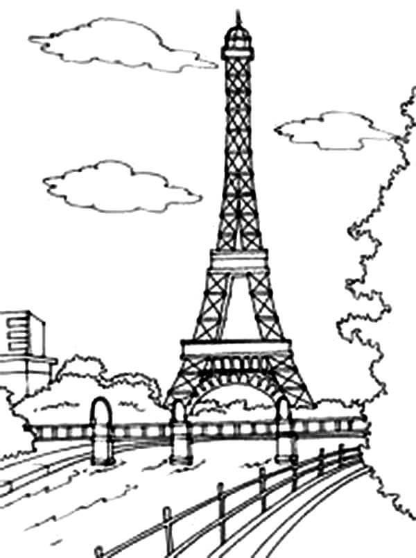 Рисунки Эйфелевой башни для срисовки - шаг 4