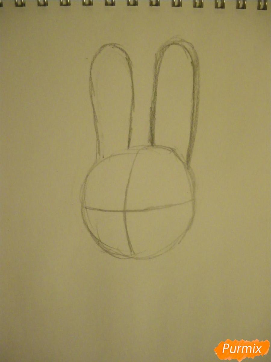 Рисуем и раскрасить Джуди Хопс  цветными карандашами - шаг 1
