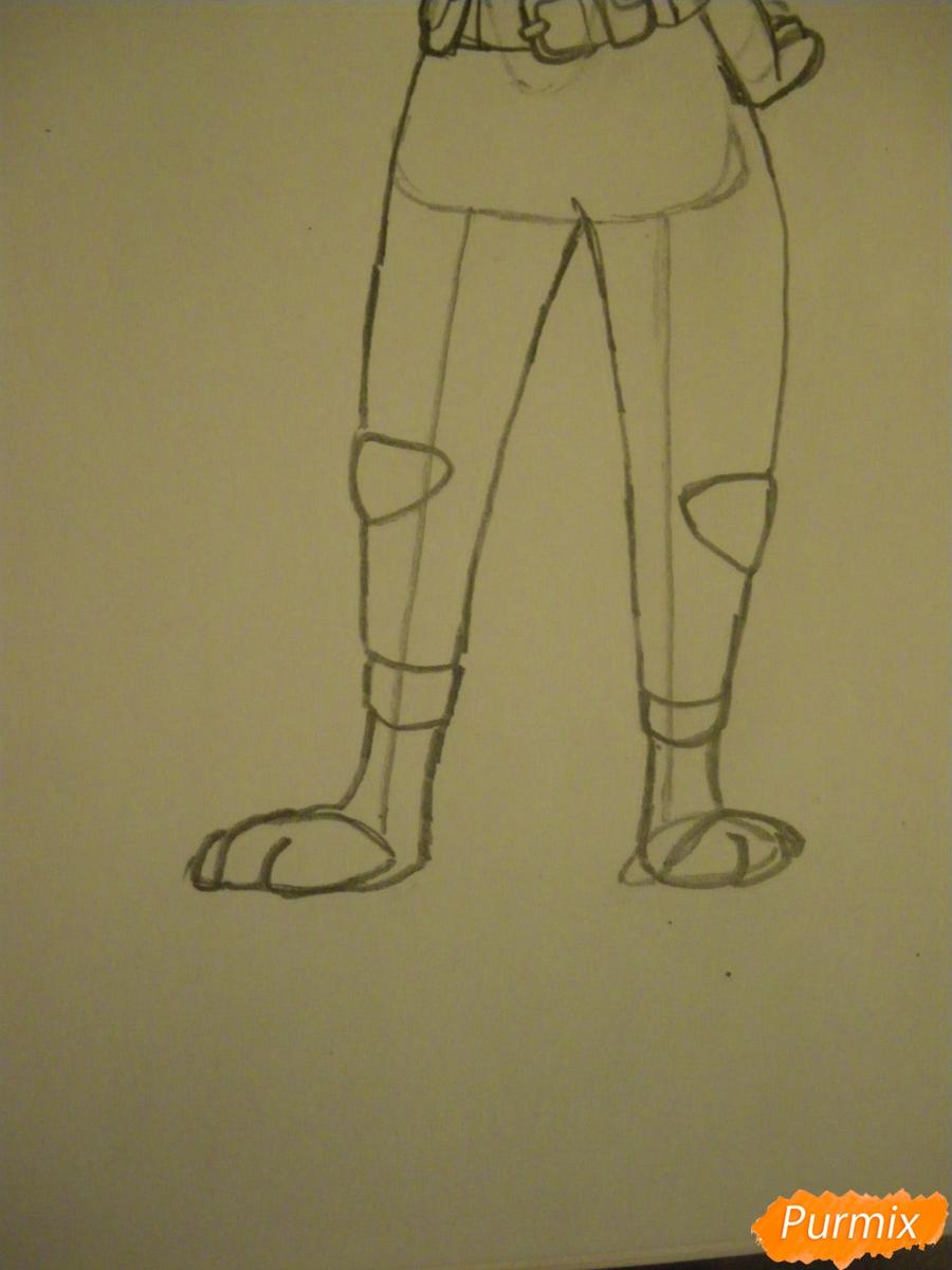 Рисуем и раскрасить Джуди Хопс  цветными карандашами - шаг 10