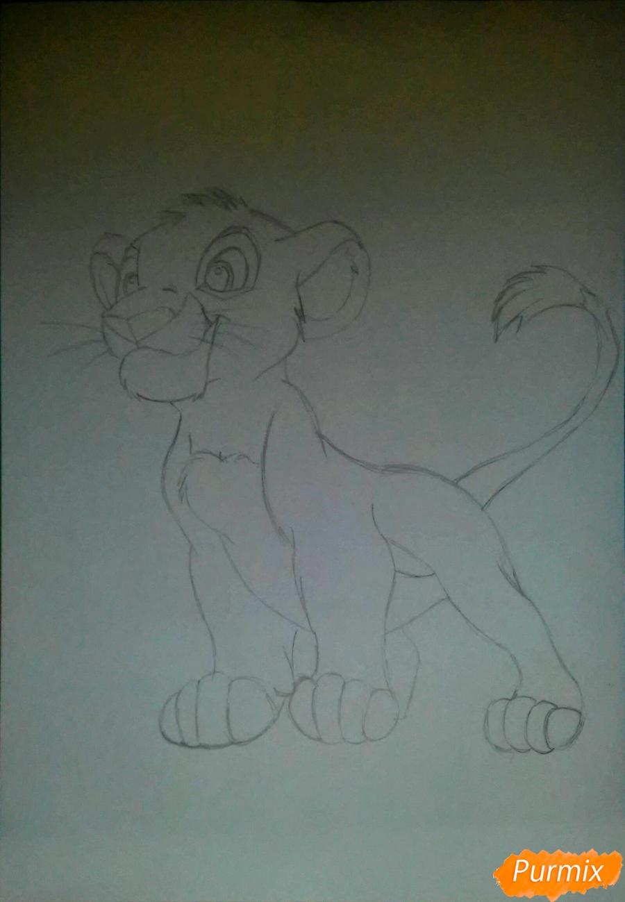 Рисуем и раскрасить Симбу - фото 2