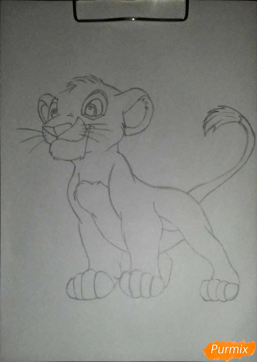 Рисуем и раскрасить Симбу - фото 3