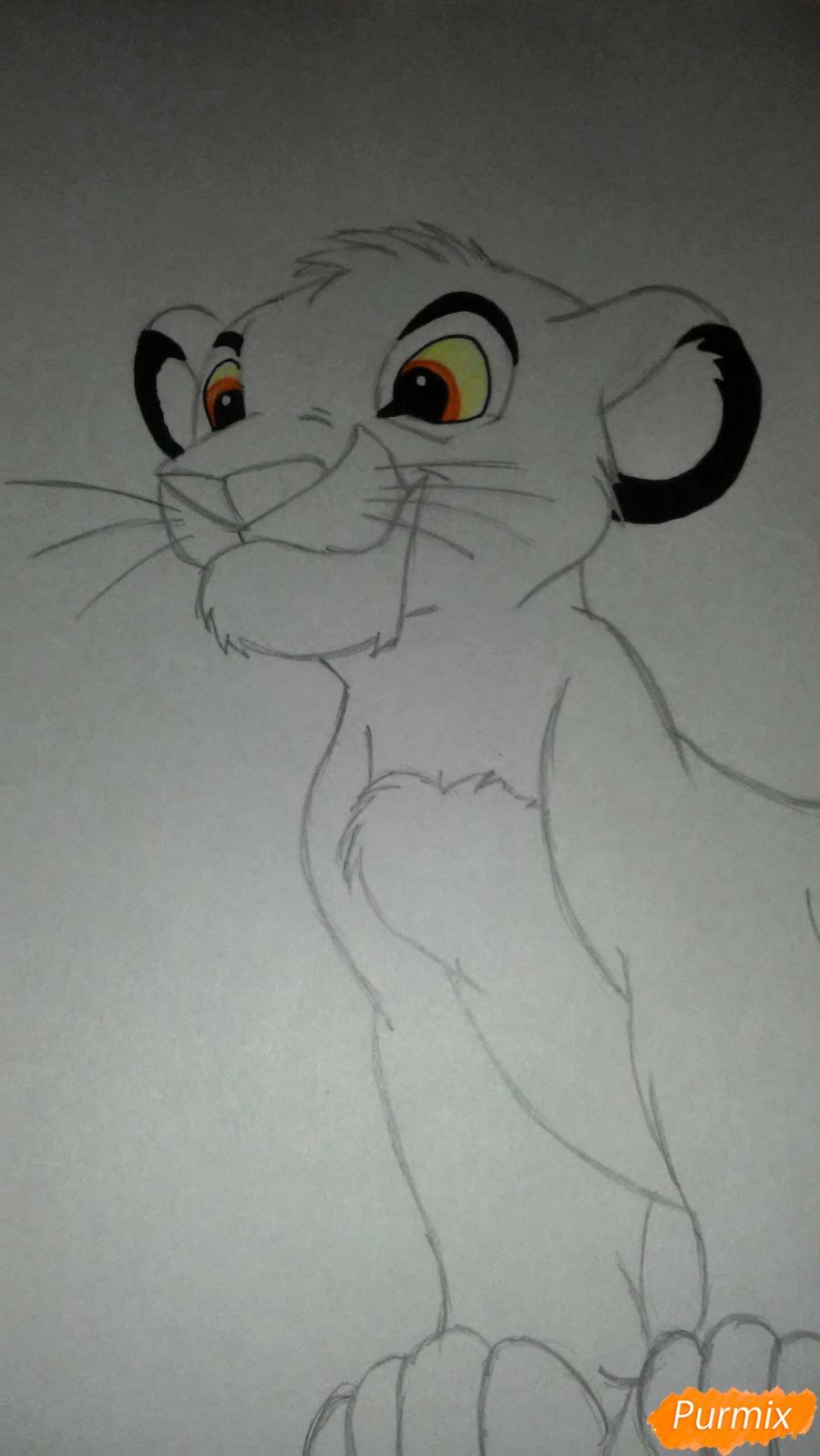Рисуем и раскрасить Симбу - фото 6