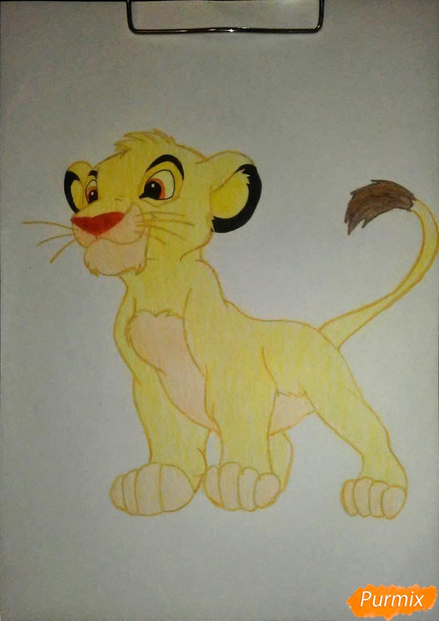 Рисуем и раскрасить Симбу - фото 8