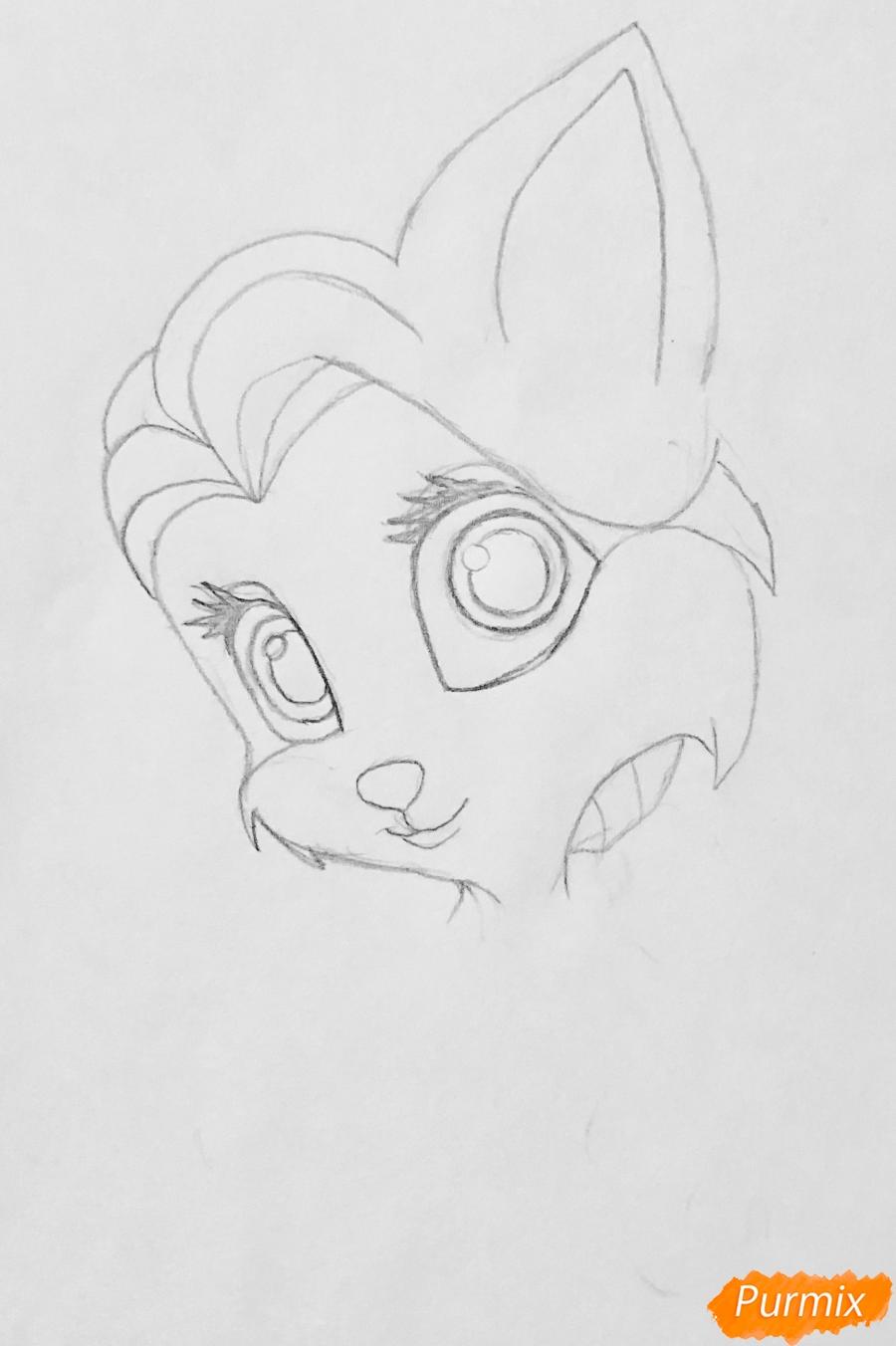 Рисуем кошечку Саммер питомца Рапунцель из мультфильма Palace Pets - фото 3