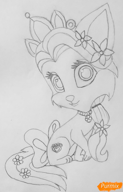 Рисуем кошечку Саммер питомца Рапунцель из мультфильма Palace Pets - фото 7