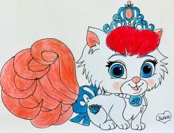 Рисунок кошечку Слиппер питомца Золушки из мультфильма Palace Pets