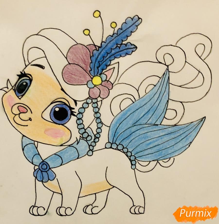 Рисуем кошечку по имени Сокровище питомца Ариэль из мультфильма Palace Pets - шаг 11