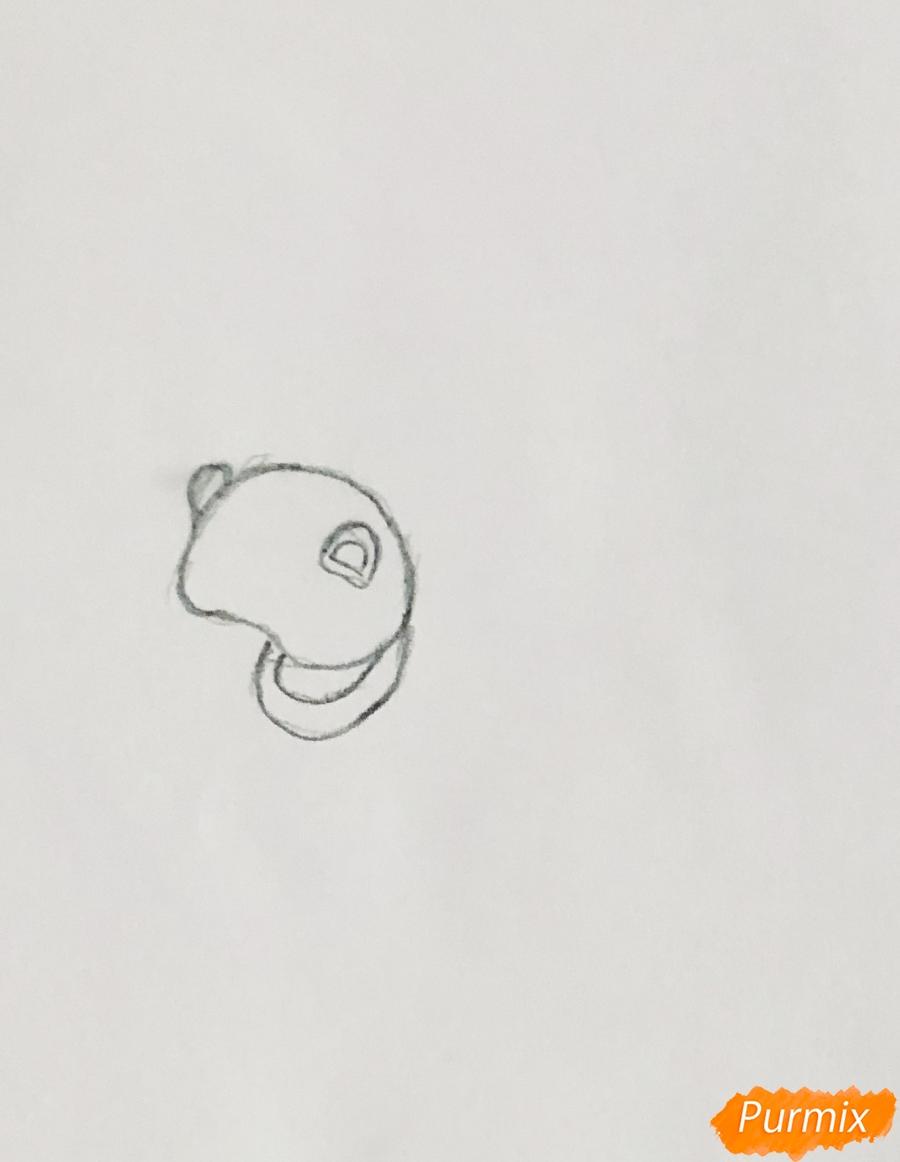 Рисуем лошадку Блонди питомца Рапунцель из мультфильма Palace Pets - фото 1
