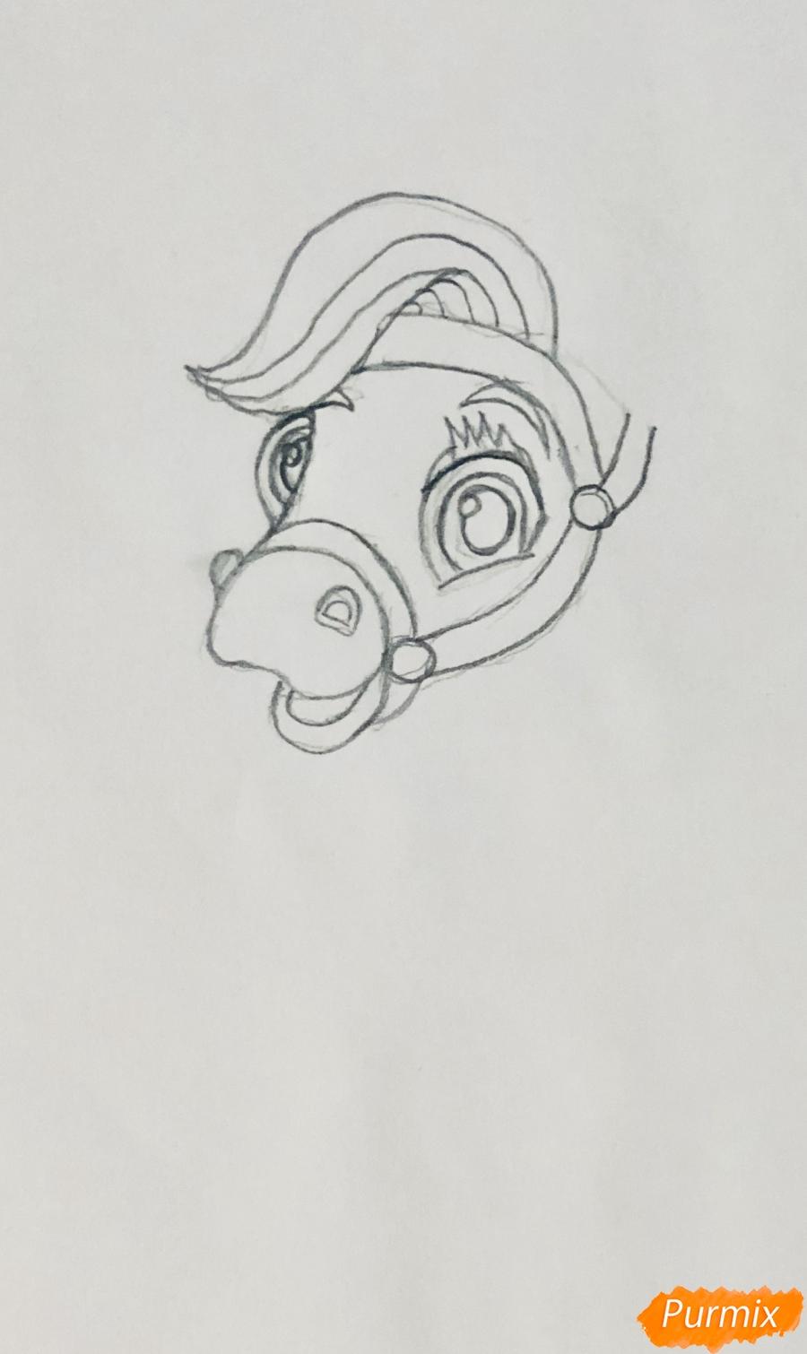 Рисуем лошадку Блонди питомца Рапунцель из мультфильма Palace Pets - фото 2