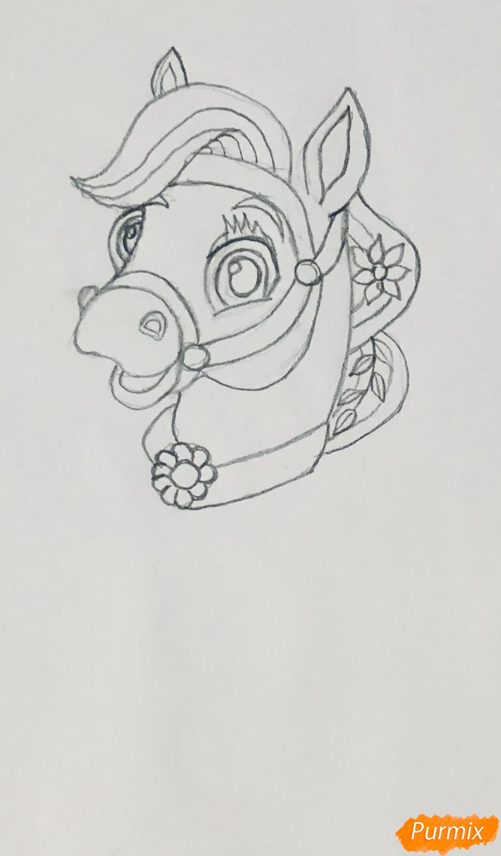 Рисуем лошадку Блонди питомца Рапунцель из мультфильма Palace Pets - фото 3