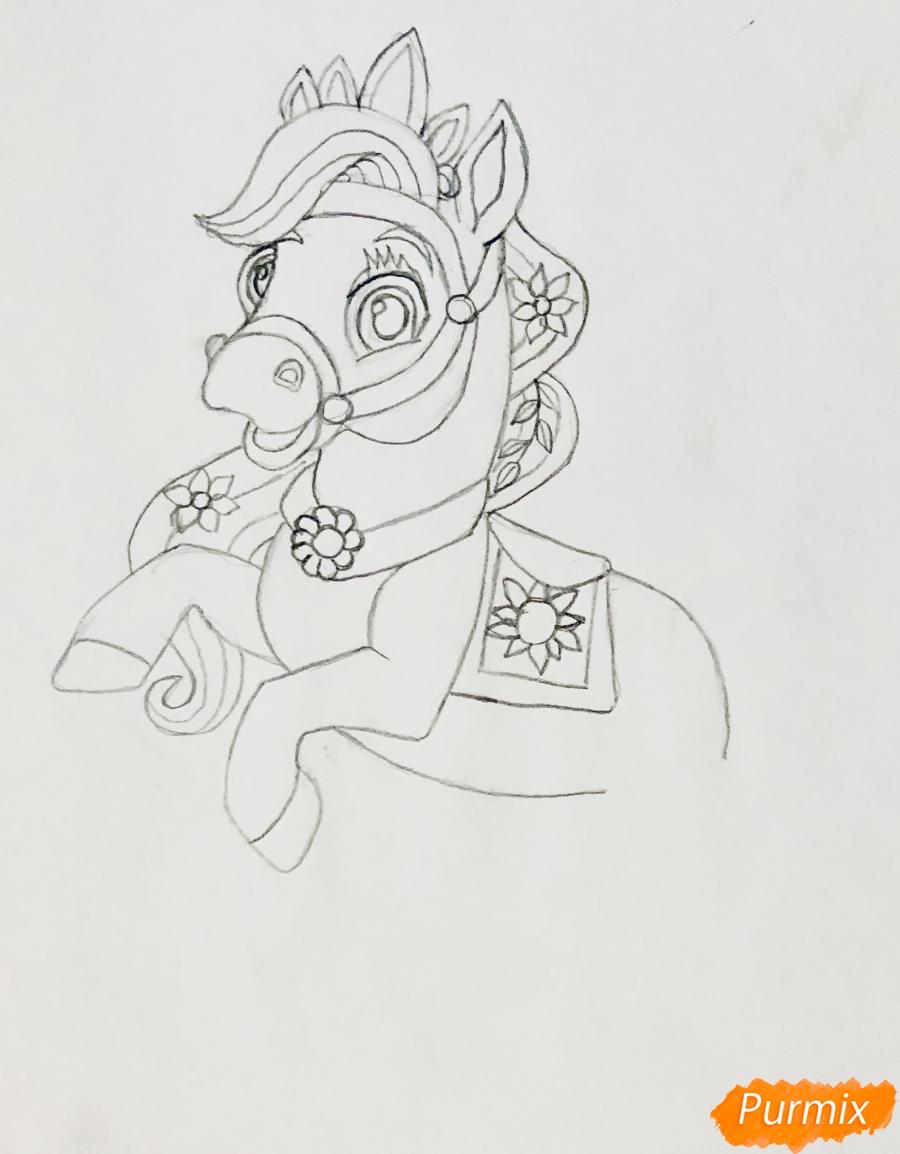 Рисуем лошадку Блонди питомца Рапунцель из мультфильма Palace Pets - фото 4