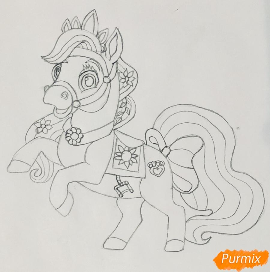 Рисуем лошадку Блонди питомца Рапунцель из мультфильма Palace Pets - фото 6