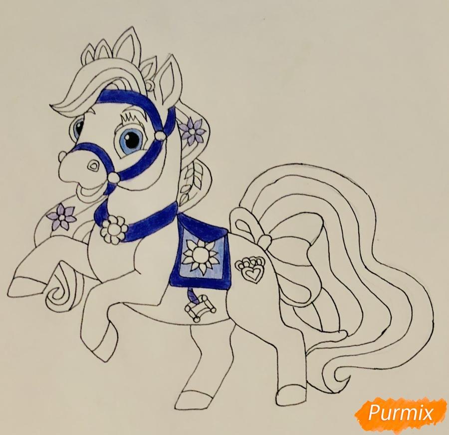 Рисуем лошадку Блонди питомца Рапунцель из мультфильма Palace Pets - фото 8