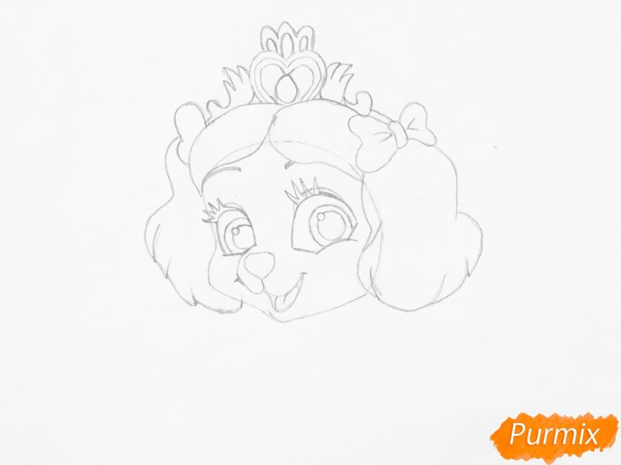 Рисуем питомца Белоснежки собачку Маффин из мультфильма Palace Pets - фото 4