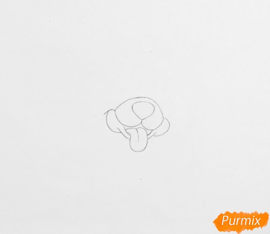 Рисуем собачку Дейси питомца Рапунцель из мультфильма Palace Pets - фото 1