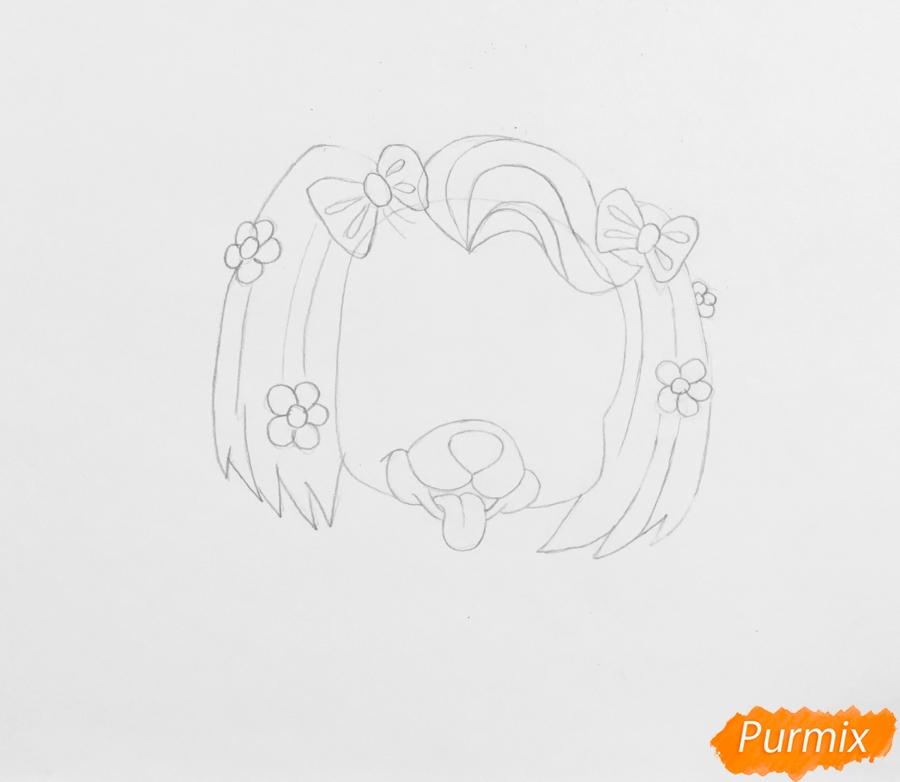 Рисуем собачку Дейси питомца Рапунцель из мультфильма Palace Pets - фото 3